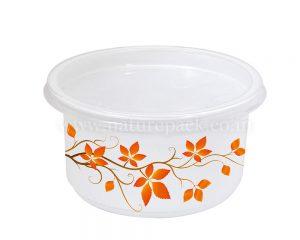 500ml White Round Container