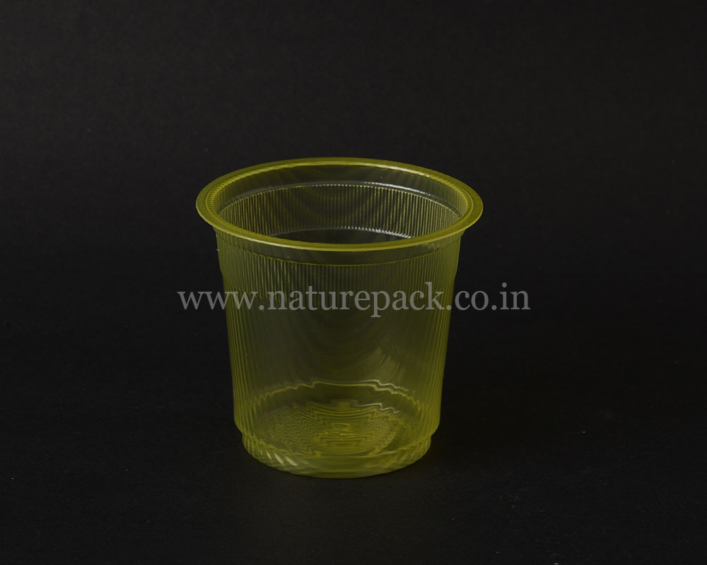 200ml Waves Yellow Cup