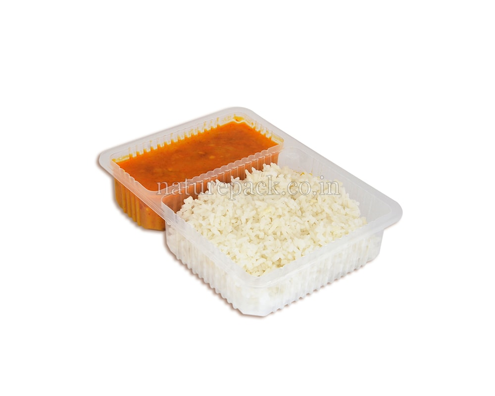 2 Compartment Food Container